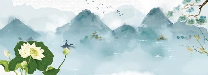 水墨画 中国風 梅 蓮, デザイン, 梅, ロータス水墨画無料ダウンロード 背景画像