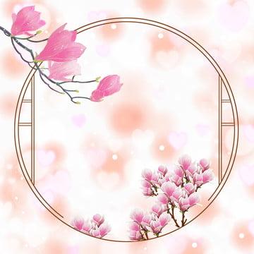 magnolia plant border lace ornament magnolia flower , Vector, Background, Material Фоновый рисунок
