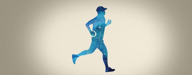 minimalist fitness background advertising background, Simple, Atmospheric, Running Background image