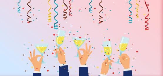 simple creative cartoon toast , Wine Glass, Light Background, Cartoon Villain Imagem de fundo