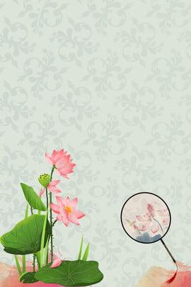 レトロ 魅力 ミニマリスト 中国の要素 , ミニマルなレトロクラウドファン要素ポスターの背景, レトロ, 古典的な美しさ 背景画像