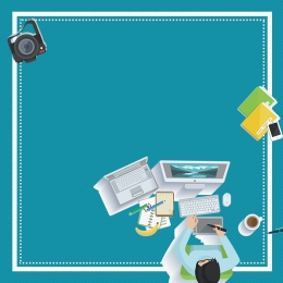 office office supplies cartoon character table lamp , Poster, Office, Office Supplies Imagem de fundo
