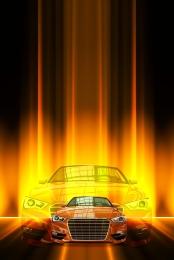 orange sports car background material , Sports Car, Orange, Poster Background image