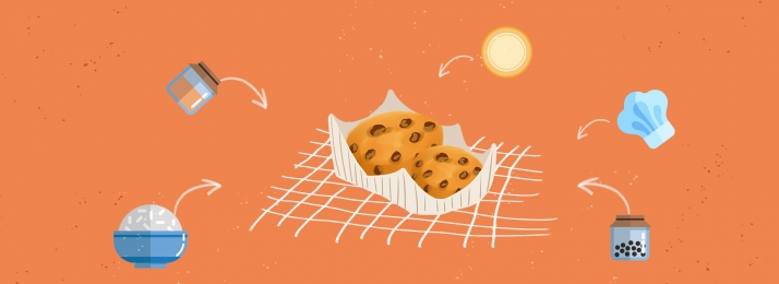 शरद ऋतु शरद ऋतु भोजन आटा नमक, चित्रित, चीनी, नुस्खा पृष्ठभूमि छवि