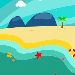 painted seaside beach scenery seaside beach scenery beach seaside beach , Hd, Sea, Painted Seaside Beach Scenery Фоновый рисунок