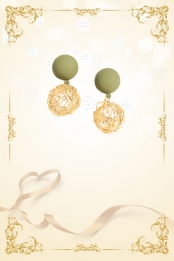 pearl earrings ribbon ribbon beauty decoration , Pearl, Earrings, Ribbons Background image