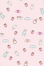 Pink bunny cake flat background Flat Background Seamless Imagem Do Plano De Fundo