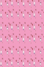 Pink bunny flat background rabbit cartoon Plane Rabbit Shading Imagem Do Plano De Fundo