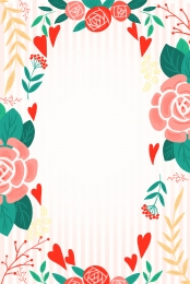 Pink gouache hand painted flower Gouache Gradient Small Imagem Do Plano De Fundo