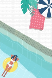 pop 夏季 泳裝 大促銷 , 海報, Psd分層, Pop 背景圖片