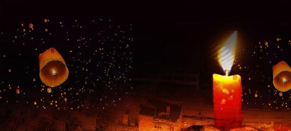 Pray For Jiuzhaigou Candle Light Black Background, Pray, For