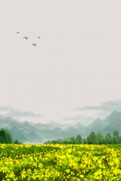 rape flower sea flower literature , Picture, Psd, Background ภาพพื้นหลัง