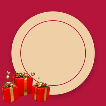 赤の背景 ギフトボックスの背景 ゴールデンリボン パール , メイク, ゴールデンリボン, ギフトボックスの背景 背景画像