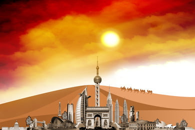 silk road belt and road, Belt And Road, Silk Road, Poster Background image