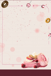 simple and beautiful bread cake dessert poster background material , Bread, Bread Panels, Bakery Posters Background image