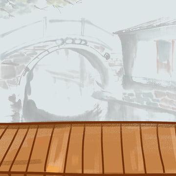 ミニマルな背景 インクの背景 木の板 白い花 , 淘宝網, 健康ポット, シンプルでエレガントな中国風psdレイヤーマスターマップの背景素材 背景画像