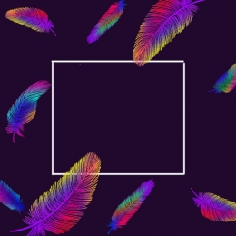 simple and stylish color feather advertisement , Simple, Stylish, Colored Feathers Background image