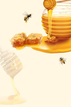 simple honey poster background material , Simple Honey Poster, Honey, Honey Poster Background image