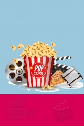 simple popcorn retail movie , Source, Material, Movie Elements Imagem de fundo