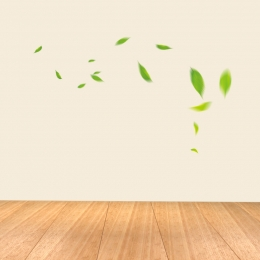 Simple background wooden board floating green leaves coffee machine Wooden Home Appliances Imagem Do Plano De Fundo