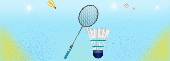 fresh badminton blue background simple, Banner, Small, Hand Drawn Imagem de fundo