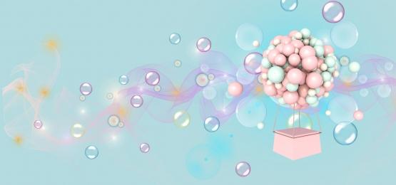 small fresh balloon background banner, Fresh, Balloon, Pink Background Background image