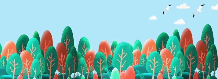 간단한 작은 신선한 숲 배경 피부 관리 승진, 녹색 건강, 간단한, 작은 신선한 배경 이미지