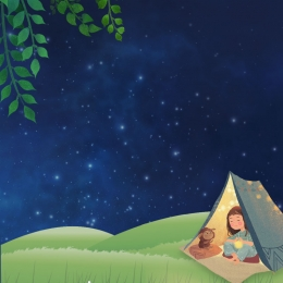 small fresh outing background advertising background , Small, Simple, Night Background image