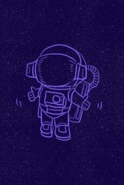 space starry astronaut character , Propaganda, Cartoon, Space Imagem de fundo