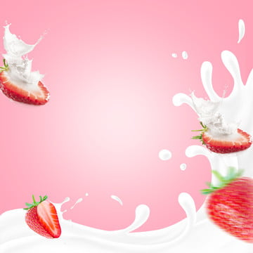 छप दूध लाल पृष्ठभूमि स्ट्रॉबेरी छप स्ट्रॉबेरी , चित्र, स्ट्रॉबेरी, दूध पृष्ठभूमि छवि