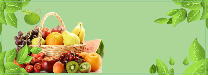 summer fruits and vegetables hand painted geometric small fresh green background, Fruit, Fruit Background, Small Fresh Background image