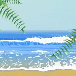 夏日背景 夏天 海邊背景 沙灘背景 , 夏天, 主圖, 泳衣 背景圖片