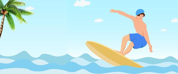 summer surf girl vector, Seagull, Girl, Surf Background image