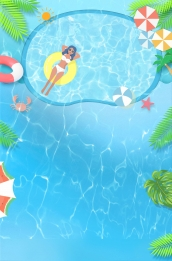swimming pool pool ladder poster background , Swimming Pool, Swimming Pool, Swimming Background image