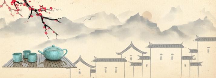 taobao शरद ऋतु और सर्दियों चाय सेट ताजा, सेट, सर्दियों, और पृष्ठभूमि छवि