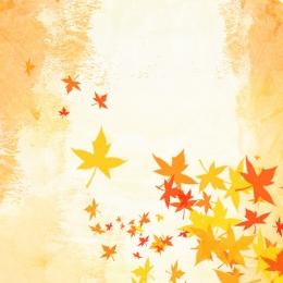 Taobao autumn yellow background watercolor Yellow Background Autumn Фоновое изображение