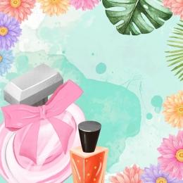 green flower grass photo frame , Perfume, Green, Beautiful Фоновый рисунок