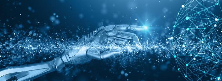 technology science fiction robot hand, Tech, Smart, Banner Imagem de fundo