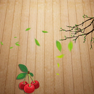 Wooden table background tile background literary background green leaves Taobao Layered Table Imagem Do Plano De Fundo