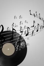 संगीत पैनल संगीत पोस्टर विनाइल डिस्क रचनात्मक नोट्स , सरल, कला प्रशिक्षण, डिस्क पृष्ठभूमि छवि