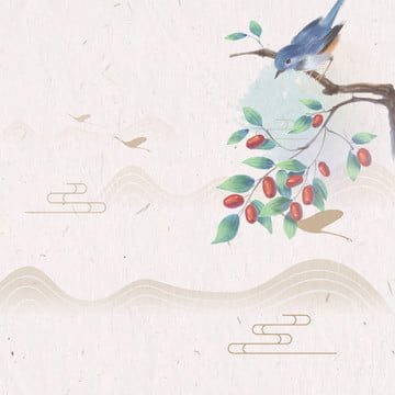 watercolor painting style antique chinese style , Watercolor, Chinese Style, Material Hintergrundbild