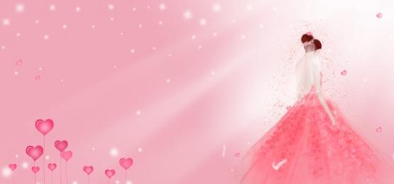 Web ロマンス 結婚式 結婚式 ロマンス バナー ピンク 背景画像