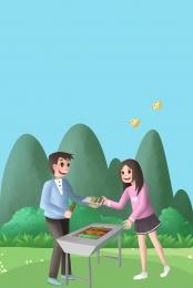 picnic bbq picnic barbecue , Barbecue, Barbecue, Snacks ภาพพื้นหลัง