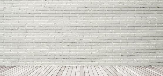 white retro brick wall banner, Vintage, White, Wall Banner Imagem de fundo