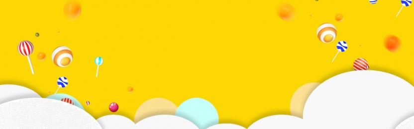 पीला ढाल ई कॉमर्स प्रचार बैनर, पृष्ठभूमि, कैंडी, ज्यामितीय पृष्ठभूमि छवि