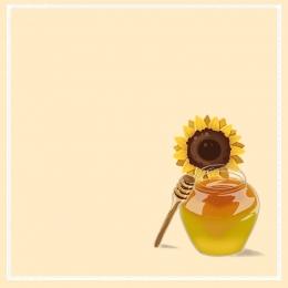黃色背景 向日葵 葵花 蜂蜜 , 蜜蜂, 蜂王漿, 葉子 背景圖片