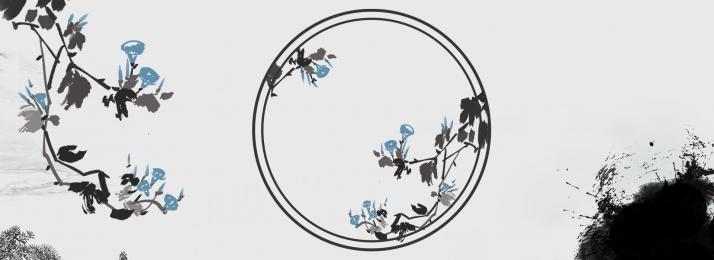 古典 復古 民族風 民族風格 古裝 水彩花卉背景 復古背景圖庫