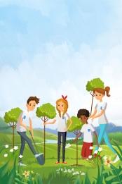 312 アーバーデイ 植林 植樹 , 植樹, ツバメ, 312 背景画像