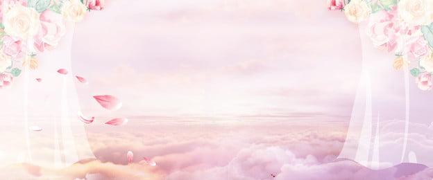 38 女性の日 ファンタジー 空, 雲, ポスター, 38女性の日ドリームスカイポスターの背景 背景画像