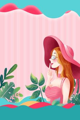 手描き イラスト風 38 女性の日 , 女性の日, イラスト風, 手描き 背景画像
